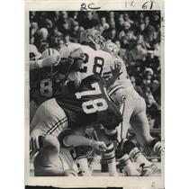 1972 Press Photo New Orleans Saints- Saints running back James Ford (28).