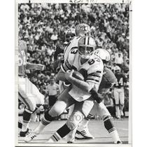 Press Photo New Orleans Saints- Hanging on to the ball on the way down.