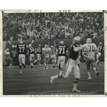 1977 Press Photo New Orleans Saints' Fans Cheer as Childs Scores During Game