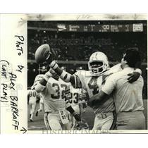 1977 Press Photo New Orleans Saints - Saints Celebrate Win Over the Bucs