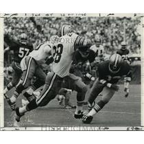 1971 Press Photo New Orleans Saints - James Ford Picks Up First Down - nos00302