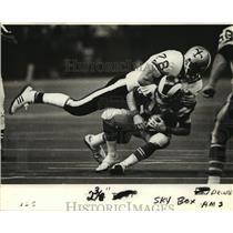 1981 Press Photo New Orleans Saints- Action shots of Saints vs Rams. - nos00344