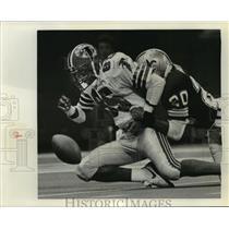 1985 Press Photo New Orleans Saints- Saints vs Falcons. - nos00368