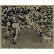1974 Press Photo New Orleans Saints- Billy Newsome in action. - nos00379