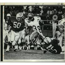 1970 Press Photo New Orleans Saints- Hanging on by a thread. - nos00411