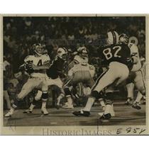 1972 Press Photo New Orleans Saints- Saint's QB Edd Hargett (14) lofts pass.