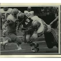 1972 Press Photo New Orleans Saints- Saints and Oilers on the field. - nos00561