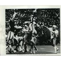 1977 Press Photo New Orleans Saints on the field in pre season game. - nos00569