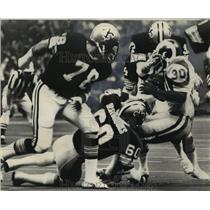 1978 Press Photo New Orleans Saints- Rams RB Lawrence McCutcheon found traffic.