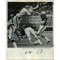 1978 Press Photo New Orleans Saints- Intense play on the field - nos01026