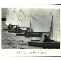 1979 Press Photo Sugar Bowl - Skippers line up in Regatta at Lake Ponchartrain.