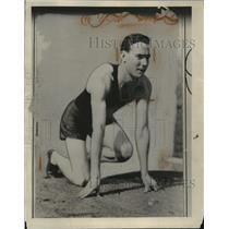 1931 Press Photo James Gordon Miami University track sprinter - net33136