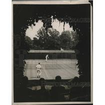 1929 Press Photo Charles Watson vs Lionel Ogden at College tennis in PA