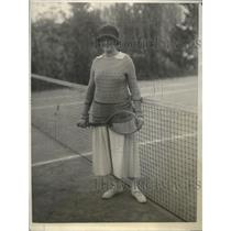 1924 Press Photo Mrs Edgar Prochnik of Austria at tennis  wife of diplomat