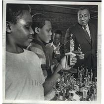 1968 Press Photo Fred Bland, North Division High School Basketball Coach