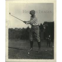 1919 Press Photo Golfer Speaker Gillette on a golf course - net32209