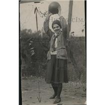 1926 Press Photo Bertha Bonet, sister of Commercial player in school in WA