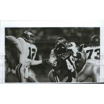 1990 Press Photo Philadelphia Eagles football quarterback Randall Cunnungham