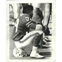 1974 Press Photo New England Patriots football player, Bam Boom Cunningham
