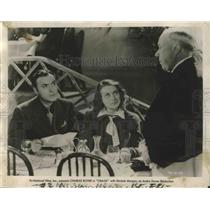 "1939 Press Photo Actors Charles Boyer, Michele Morgan in ""Orage"" Movie"