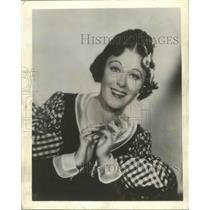 "1942 Press Photo Actress Grace Moore in ""La Boheme"" Chicago Opera - ftx02597"