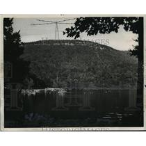 1951 Press Photo Lake at Cheaha State Park in Alabama - abnx00656