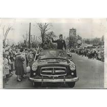 1953 Press Photo Corp Donald LeGay in Mass. Parade after North Korean Release