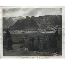 1950 Press Photo Bavaria, Germany Oberammergau Passion Play Setting - ftx01896