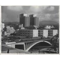 1955 Press Photo Caracas, Venezuela Viaduct - ftx01911