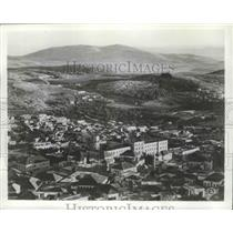 1963 Press Photo Nazareth, Israel Aerial View - ftx01989