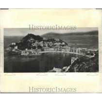 1956 Press Photo Sestri Levante, Italy Port - ftx01990