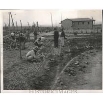 1950 Press Photo Ibarra, Ecuador Cobblestone Highway Construction - ftx02006
