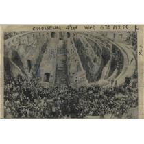 1949 Press Photo Colosseum, Rome, Italy Passion Friday Services - ftx02123