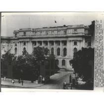 1940 Press Photo Bucharest, Romania Royal Palace Damaged in Earthquake