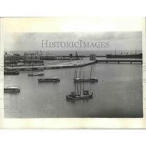 1941 Press Photo Recife Harbor, Brazil - ftx02143
