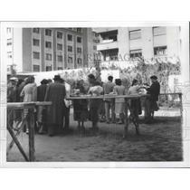 1955 Press Photo Bucharest, Romania Outdoor Bar - ftx02145