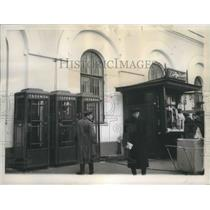 1953 Press Photo Moscow, Russia Telephone Booths - ftx02204