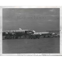 1958 Press Photo Vnnukovo Airport, Moscow, Russia Planes - ftx02206