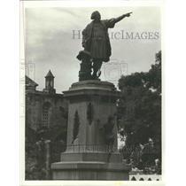 1988 Press Photo Christopher Columbus Statue, Santa Domingo, Dominican Republic
