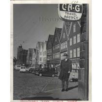 1967 Press Photo Hanseatic Buildings, Bergen Waterfront, Norway - ftx02270