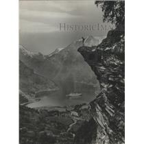 1964 Press Photo Geiranger Fjord, Norway - ftx02271