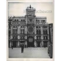 1947 Press Photo St Mark's Square Clock Tower, Venice, Italy - ftx02329
