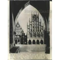 1940 Press Photo Munster Town Hall for Peace Conference, Germany - ftx02557