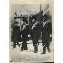 1947 Press Photo King Frederick of Demark in King Christian Funeral Cortege