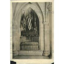 1925 Press Photo Woodrow Wilson Sarcophagus Bethlehem Chapel Washington