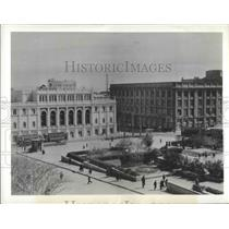 1942 Press Photo Nizami Museum Landscaping, Russia - ftx02723