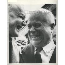 1958 Press Photo Russia Premier Nikita Khrushchev Laugh