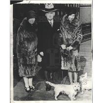 1929 Press Photo Dwight Morrow Elizabeth Mexico Morrow