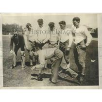 "1928 Press Photo Bert Nagel California's ""All-Fours"" Fastest Human - sbs01918"