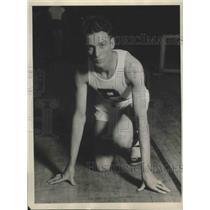 1930 Press Photo Orval Martin Captain of Purdue University Track & Cross Teams